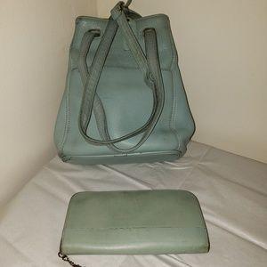Vintage Coach Sonoma Mint Shoulder Purse 4923